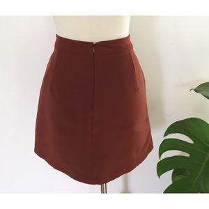 lft Skirts - NWT LFT Zara Faux Button Front A-Line Mini Skirt